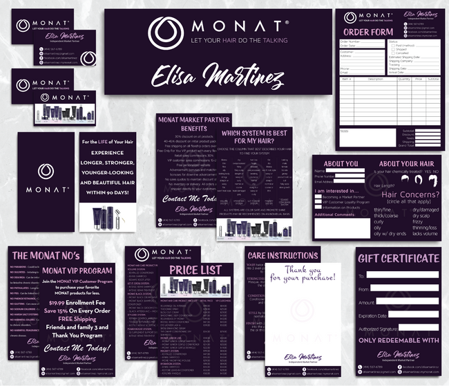 Monat Cards, Monat Marketing Bundle, Personalized Monat Business Cards MN25