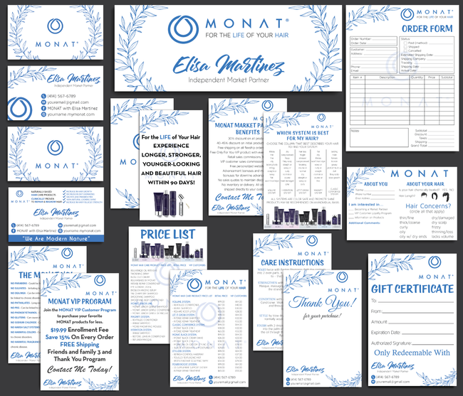Monat Cards, Monat Marketing Bundle, Personalized Monat Business Cards MN27