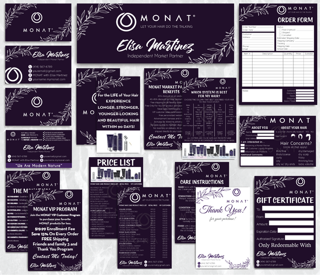 Monat Cards, Monat Marketing Bundle, Personalized Monat Business Cards MN28