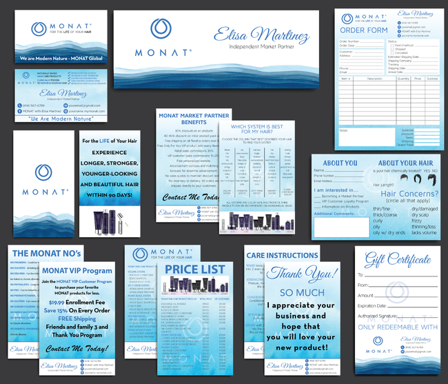 Monat Cards, Monat Marketing Bundle, Personalized Monat Business Cards MN06