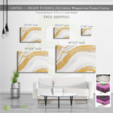 Marbled Stone Gold, Marble Art Decor CV25 Landscape Canvas .75in Frame