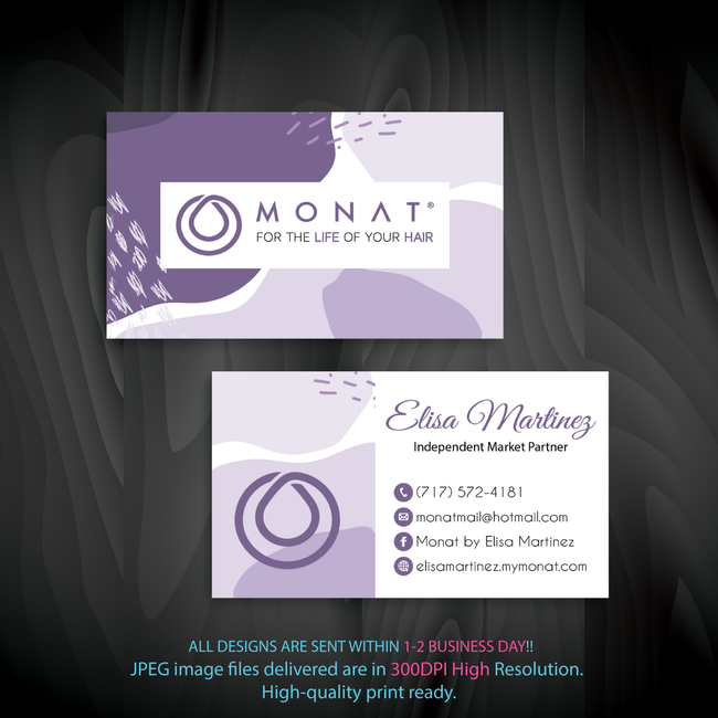 Monat Business Cards, Personalized Monat Hair Care Cards MN41 - ToboArt