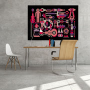 Musical Instruments Wall Art Decor, Modern Art Print
