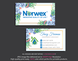 Norwex Business Cards, Personalized Norwex Template NR12