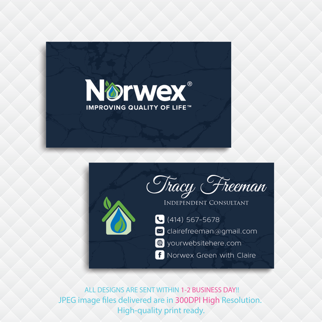Norwex Business Cards, Personalized Norwex Template NR19