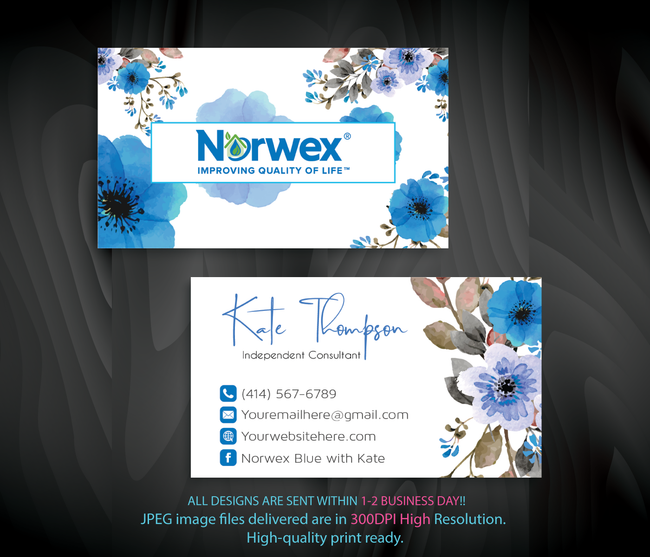 Norwex Business Cards, Personalized Norwex Template NR15