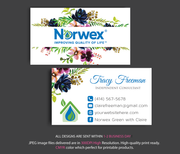 Norwex Business Cards, Personalized Norwex Template NR01
