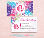 Perfectly Posh Business Cards, Personalized Perfectly Posh Consultant PS07