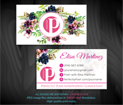 Perfectly Posh Business Cards, Personalized Perfectly Posh Consultant PS06