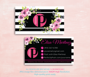 Perfectly Posh Business Cards, Personalized Perfectly Posh Consultant PS08