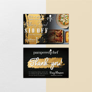 Premium Personalized Pampered Chef Thank Cards, Pampered Chef Care Instruction Cards PPC13