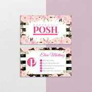 Floral Perfectly Posh Business Cards, Personalized Perfectly Posh Consultant PS13