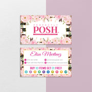 Perfectly Posh Business Cards, Floral Personalized Perfectly Posh Consultant PS13