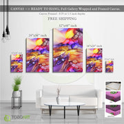 Colorful Art, Canvas Marble Wall Art Decor CV34 Portrait Canvas .75in Frame
