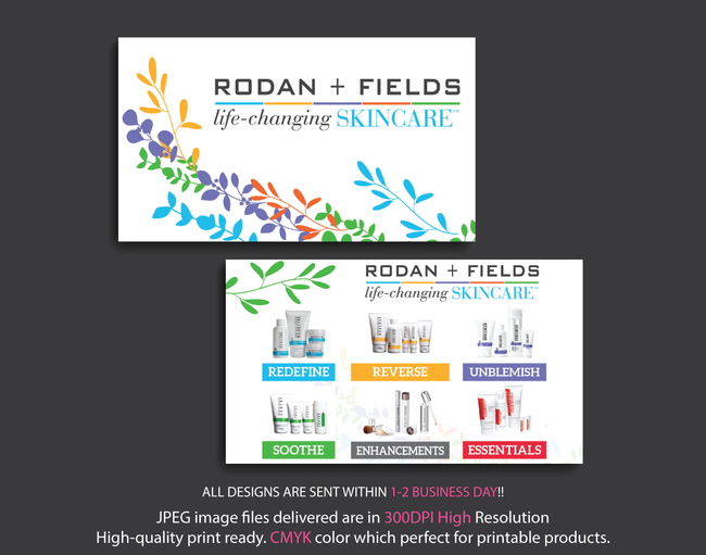 Rodan & Fields Business Cards, Personalized Rodan & Fields Cards RF18