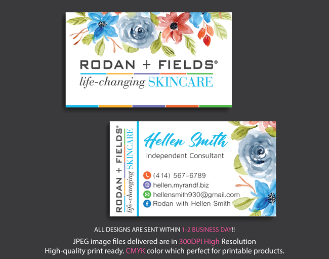 Rodan & Fields Business Cards, Personalized Rodan & Fields Cards RF98