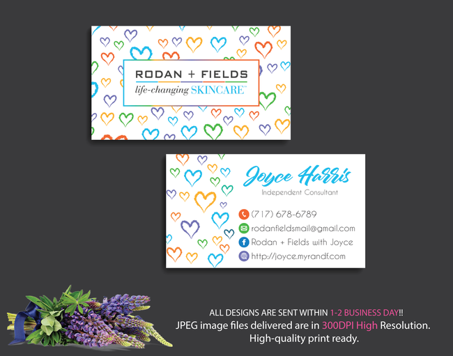 Rodan & Fields Business Cards, Personalized Rodan & Fields Cards RF13