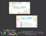 Rodan & Fields Business Cards, Personalized Rodan & Fields Cards RF12