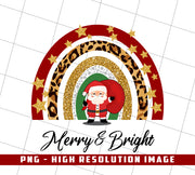 Merry & Bright, Merry Christmas, PNG Printable