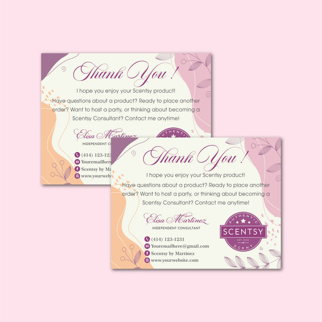 Watercolor Scentsy Bundle, Scentsy business card, Scentsy Label Card SS07