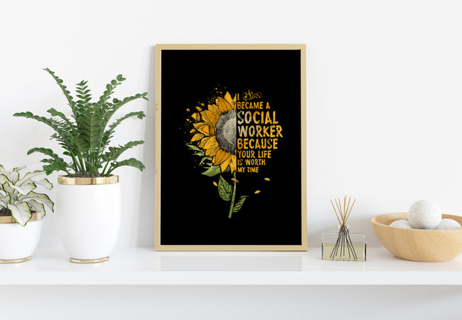 Sun Flowers, I Became A Social Worker, PNG Printable