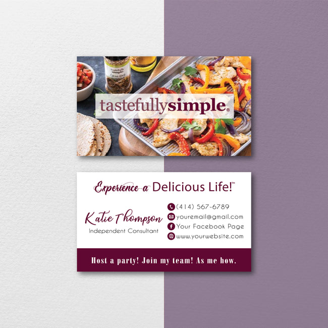 Tastefully Simple Business Card, Personalized Tastefully Simple Business Card TS05