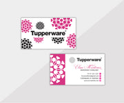 Tupperware Business Cards, Personalized Tupperware Cards TW01