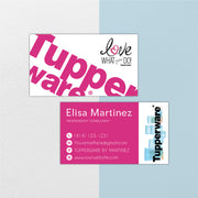 Tupperware Business Cards, Personalized Tupperware Cards TW02