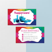 Tupperware Business Cards, Personalized Tupperware Cards TW03