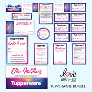 Tupperware Marketing Bundle, Personalized Tupperware Package, Tupperware Template TW04