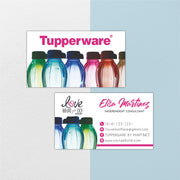 Tupperware Business Cards, Personalized Tupperware Cards TW05