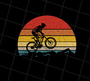 Vintage Biking Cycling Biker Retro, PNG Printable