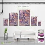 Abstract Violet Orange Canvas Wall Art CV42 Portrait Canvas .75in Frame