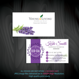 Young Living Business Card, Personalized Young Living Cards, Essential Oil Cards, YL10 - ToboArt