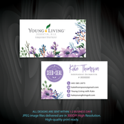 Young Living Business Card, Personalized Young Living Cards, Essential Oil Cards, YL08