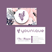 Floral  Younique Business Card, Personalized Younique Business Card YQ15
