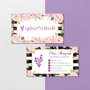Floral  Younique Business Card, Personalized Younique Business Card YQ22