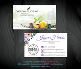 Young Living Business Card, Personalized Young Living Cards, Essential Oil Cards, YL21 - ToboArt
