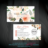 Young Living Business Card, Personalized Young Living Cards, Essential Oil Cards, YL26