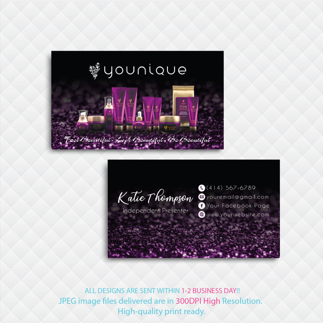 Younique Business Card, Personalized Younique Business Card YQ08