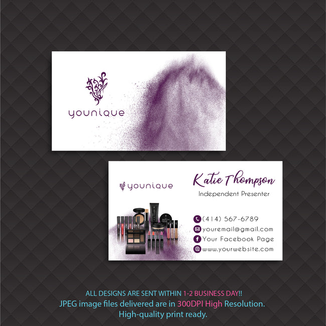 Younique Business Card, Personalized Younique Business Card YQ06