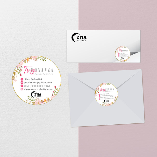 Floral Zyia Marketing Bundle, Personalized Zyia Package, Zyia Template ZA22