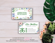 Arbonne Business Cards, Personalized Arbonne Cards AB80
