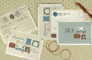 Vintage Stamp Wedding Invitation, Classic Stamp Wedding Templates 29