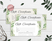 DIY Gift Certificate Template, Printable Gift Card, Gift Voucher Certificate,  GC02