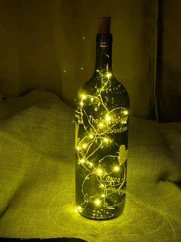 The Love Between a Mother and Son Knows No Distance lighted Wine Bottle