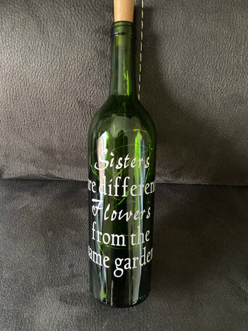 Lighted Wine Bottle for Sisters