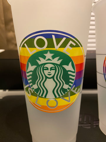 Starbucks Reusable Cold Cup LGBTQ