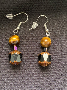 Tigers Eye Fall Dangle Earrings