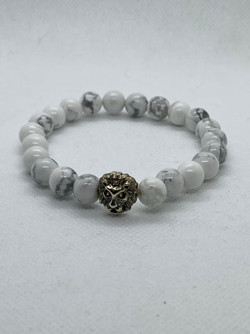 Lion Elastic Beaded Bracelet